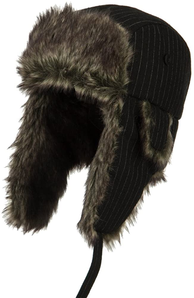 e4Hats.com Big Size Wool Pinstripe Trooper Hat