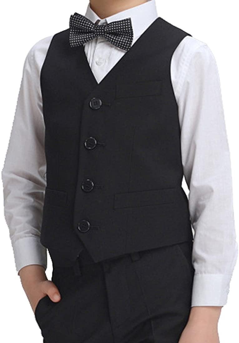 YUFAN Boys Optional Suit Separates Vest/Pants/Bow Tie and White Shirt