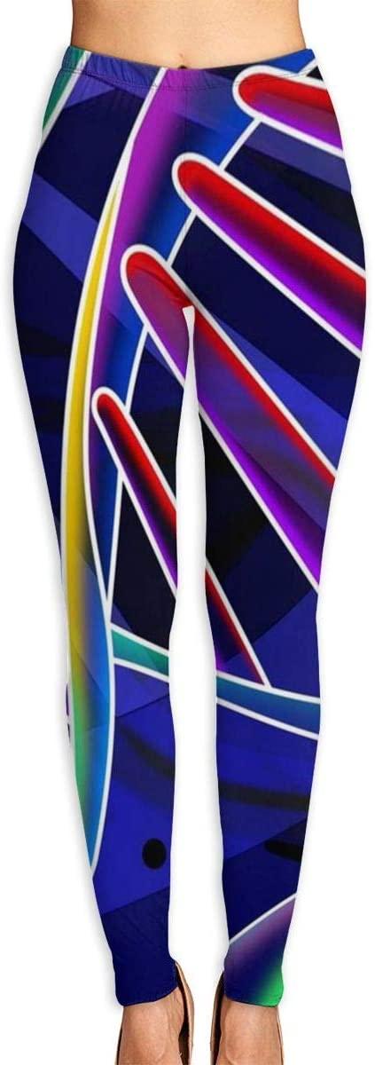 ZZATAA Womans DNA Ring Chemistry Science Elastic Waist Pencil Yoga Pants Yoga Leggings