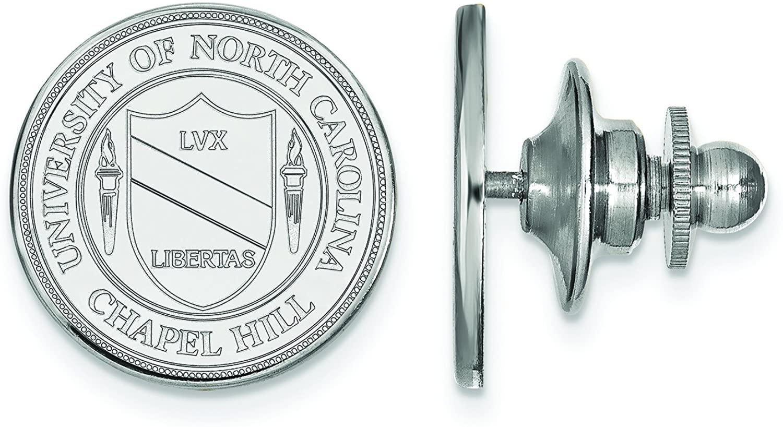 14k White Gold Logoart University Of North Carolina Crest Tie Tac