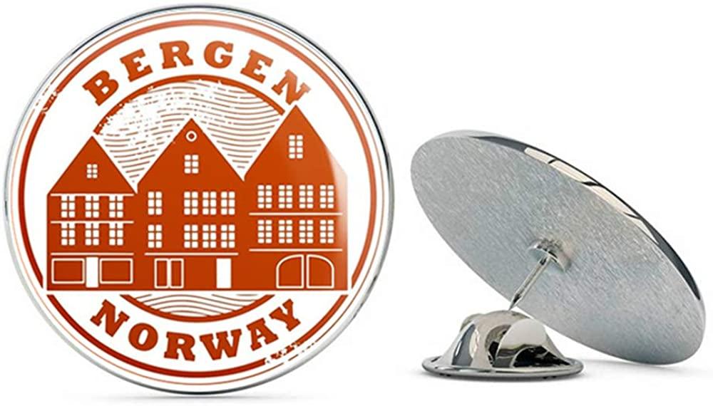 Bergen Norway Travel Round Metal 0.75