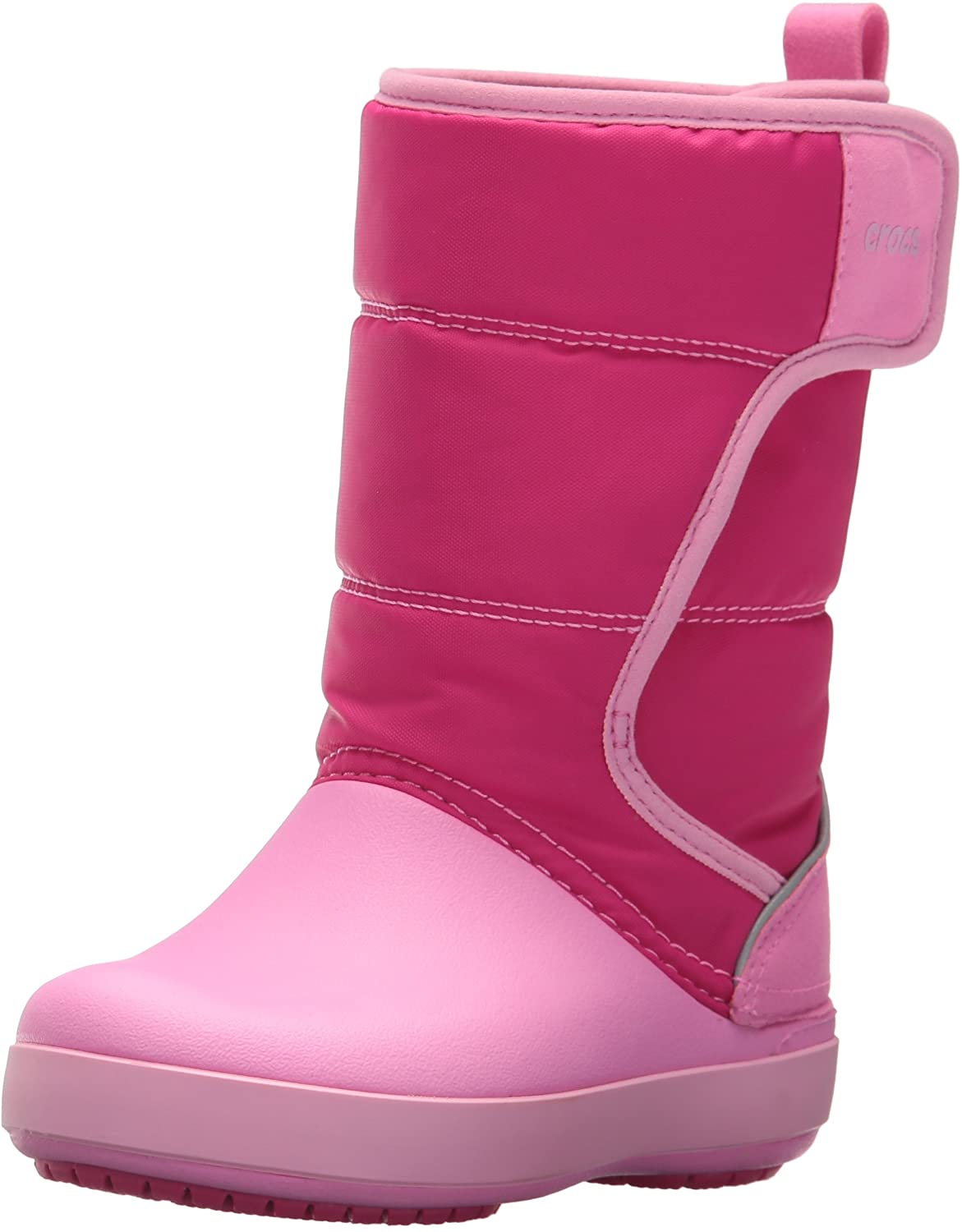 crocs LodgePoint Snow Boot K, Candy Pink/Party Pink, 3 M US Little Kid