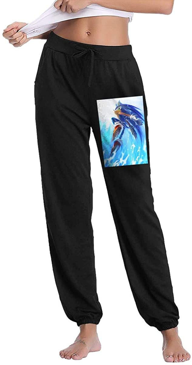 Sonic The Hedgehog Sweatpants Trousers Fashion Pants Woman's