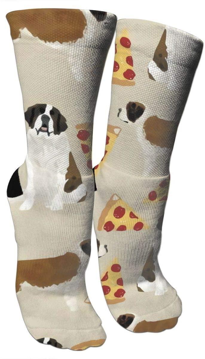 antspuent Saint Bernard Dog Breed Compression Socks Unisex Fun Novelty Crazy Dress Crew Socks