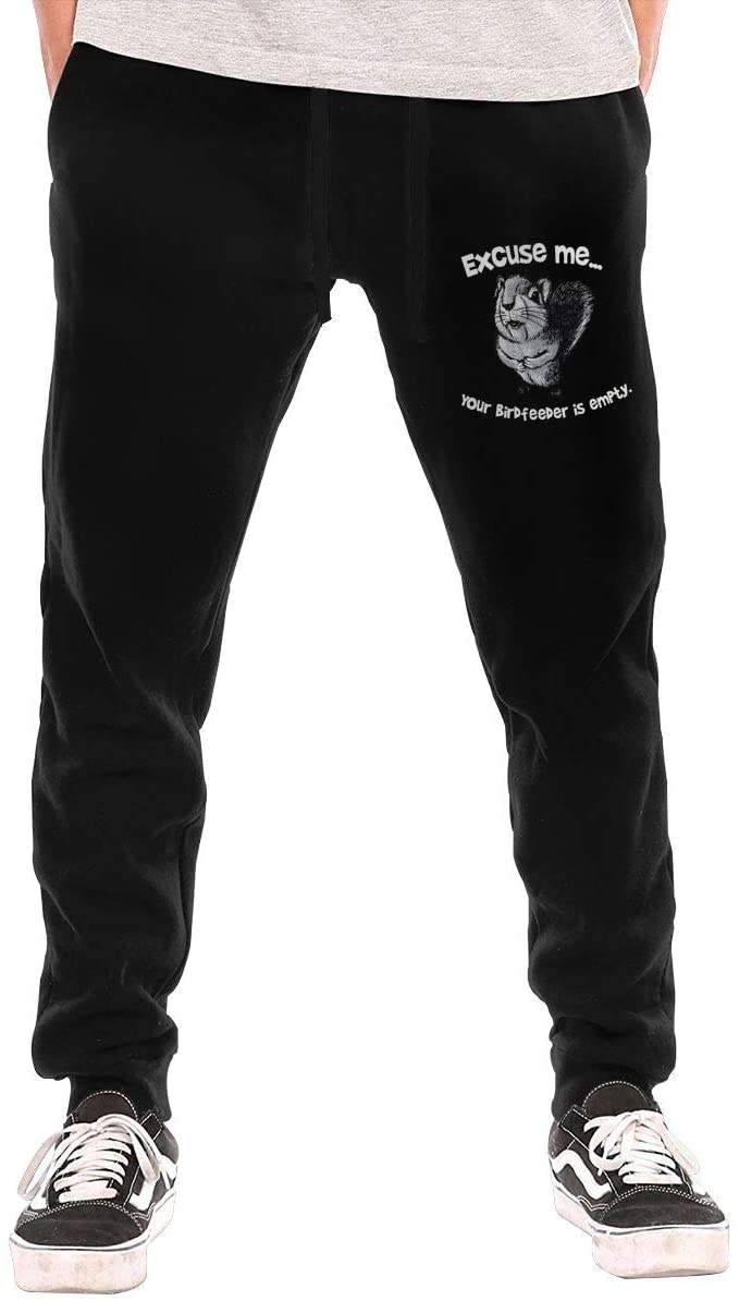 Biesjfnkf Edjvl Squirrel Men's Pant, Casual, Jogging, Exercise, Pant with Pockets, Fashion, All-Match