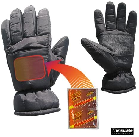 Heat Factory Insulated Winter Gloves for use Hand Warmers