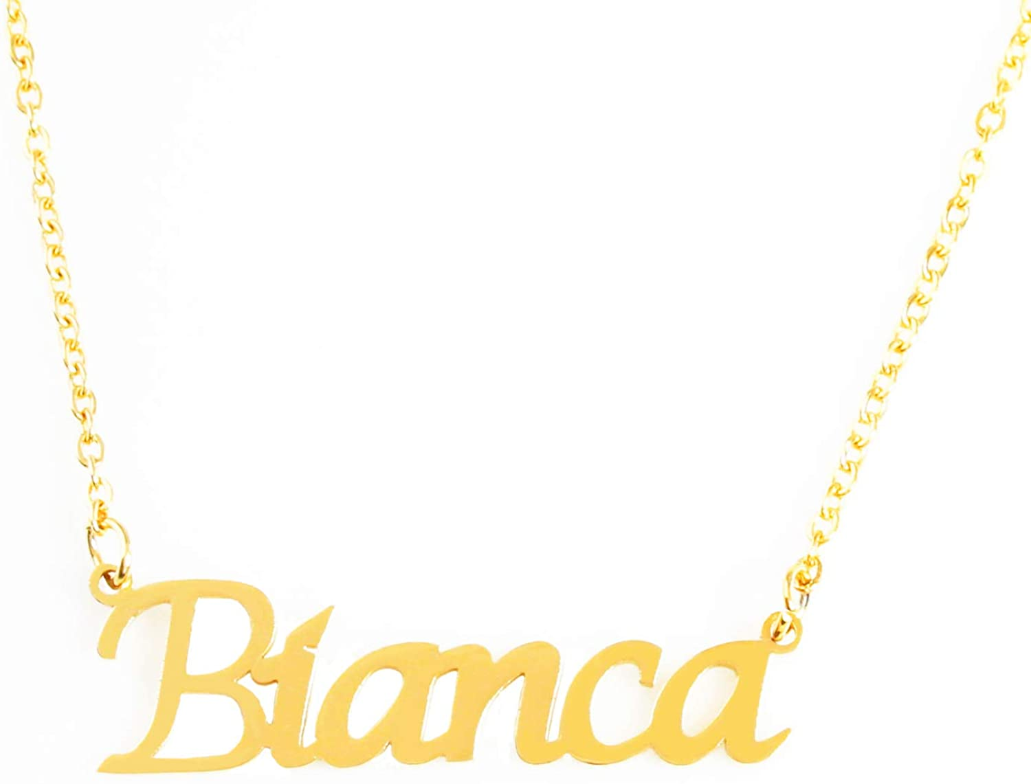 Zacria Bianca Custom Name Necklace Personalized - 18ct Gold Plated
