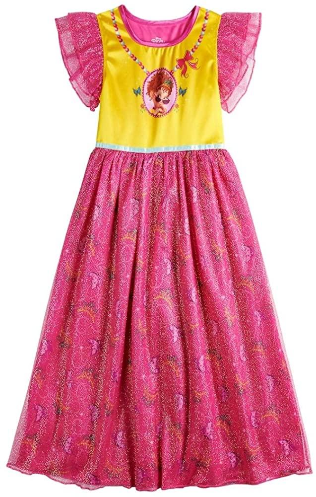 Disney Girls Fancy Nancy Fantasy Gown Nightgown, 4, Fancy Nancy Pink/Yellow