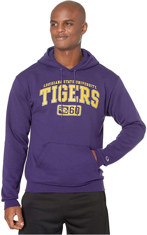 Champion College Men's LSU Tigers Eco¿ Powerblend¿ Hoodie