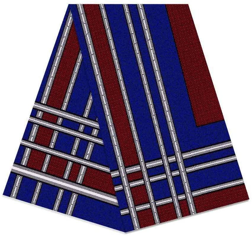 6 Yard African Fabric Wax Print Cotton Wax Hollandais Ankara Guaranteed Print 100% Cotton Material Vintage Embroidered