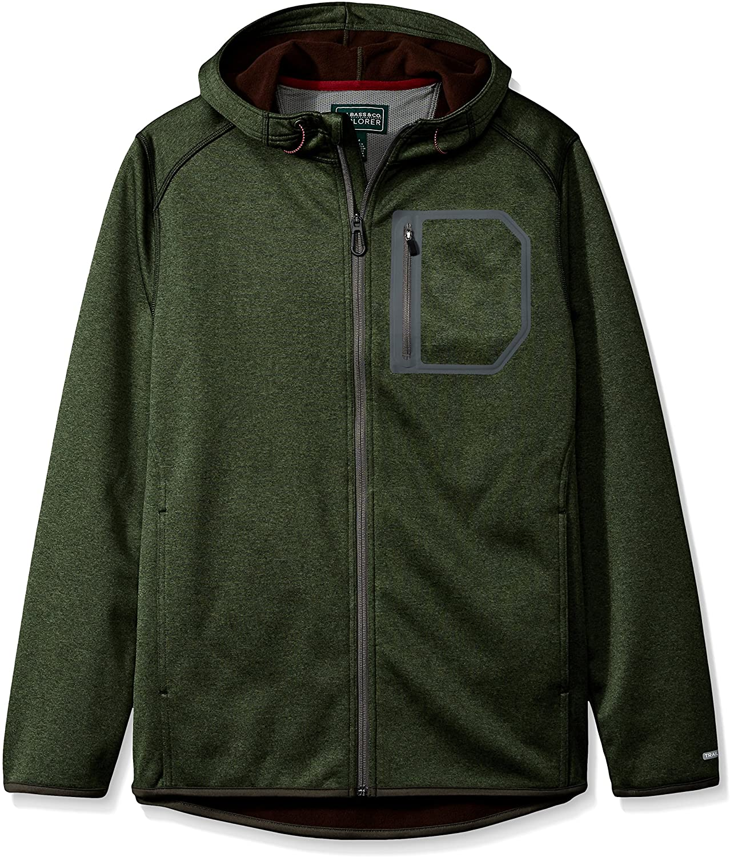 G.H. Bass & Co. Mens Explorer Summit Creek Melange Softshell Fleece Hoodie Jacket