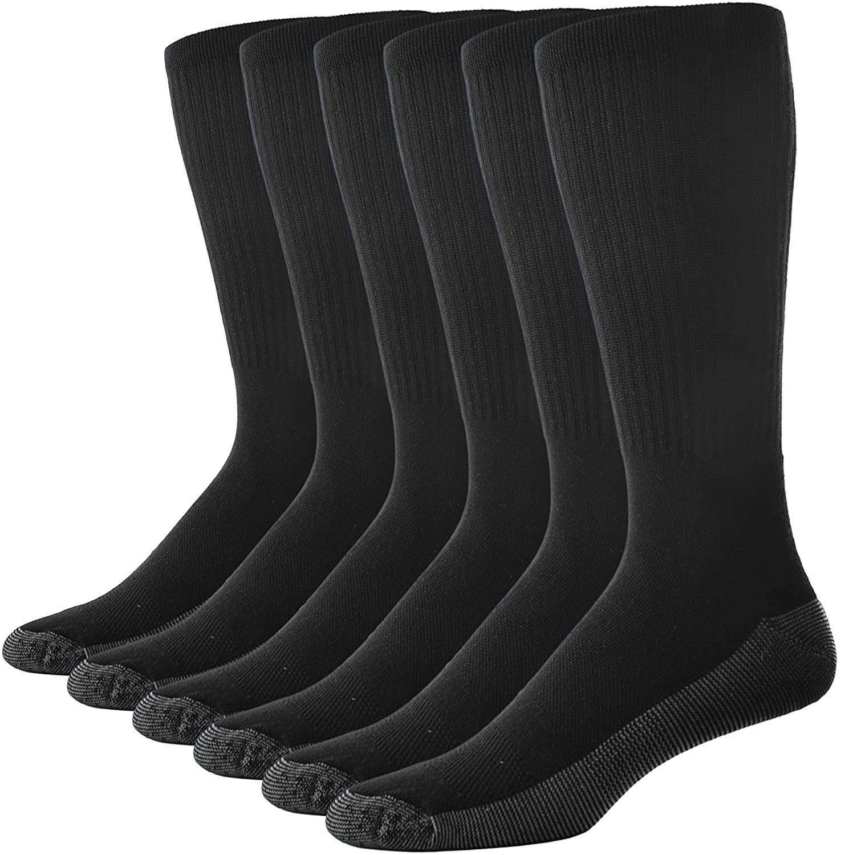Casual Garb Mens Crew Socks 6 Pair Pack Moisture Wicking Socks Crew Work Socks For Men