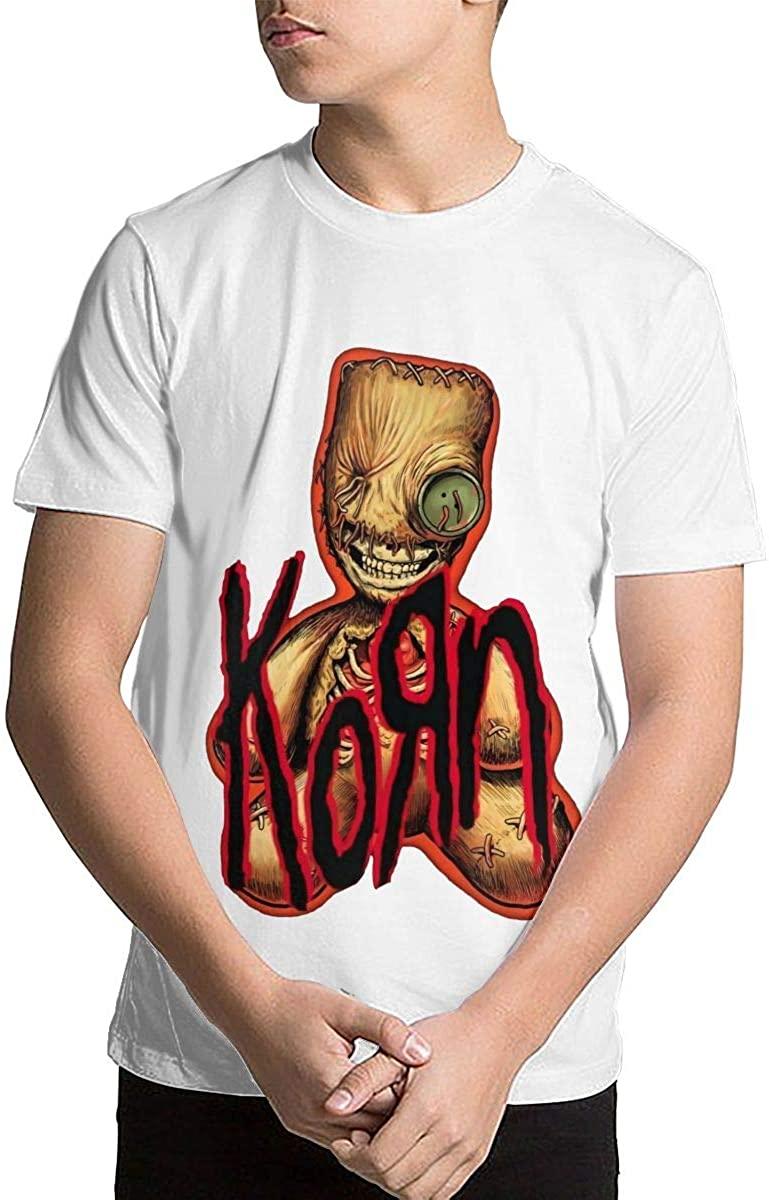 Joseph L Hurwitz Youth Kids' Korn Short Sleeve Printed T-Shirt Crewneck Shirt Short Sleeve