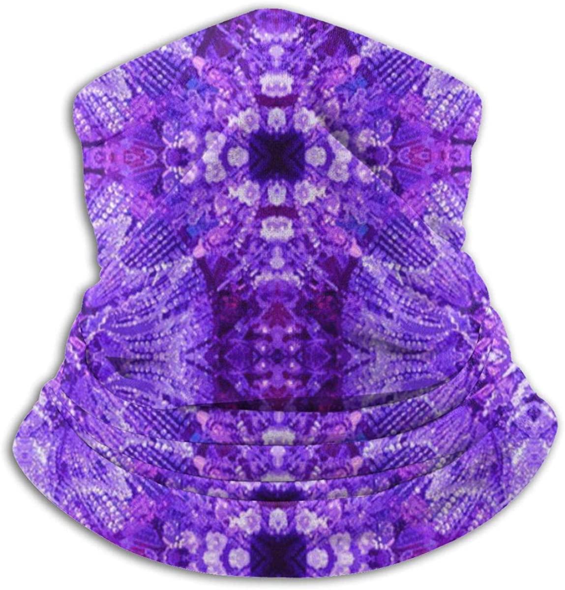 Glows in The Dark - Purple Valentine 2020 for Women Men Dust Wind Sun Protection Seamless Bandana Face for Rave Festival Outdoor Running Tube Multifunctional Headwear