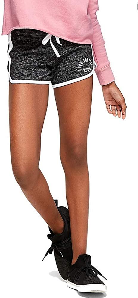 Justice Girls Logo Knit Dolphin Shorts Dark Grey