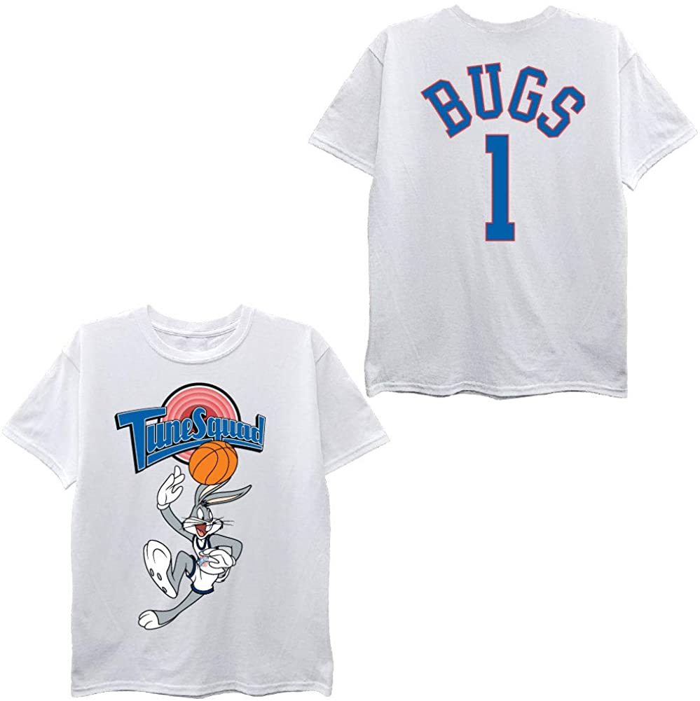 space jam Boys Classic Shirt - Tune Squad Marvin & Bugs Bunny Tee 90's Classic T-Shirt