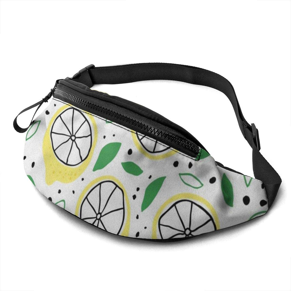funny lemon fruit Fanny Pack for Men Women Waist Pack Bag with Headphone Jack and Zipper Pockets Adjustable Straps