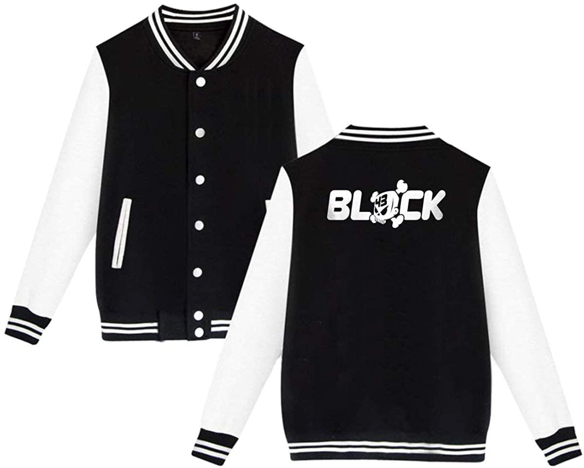 GOOANGUS Ken Block Skull Logo Racing Unisex Baseball Jacket Varsity Jacket Black