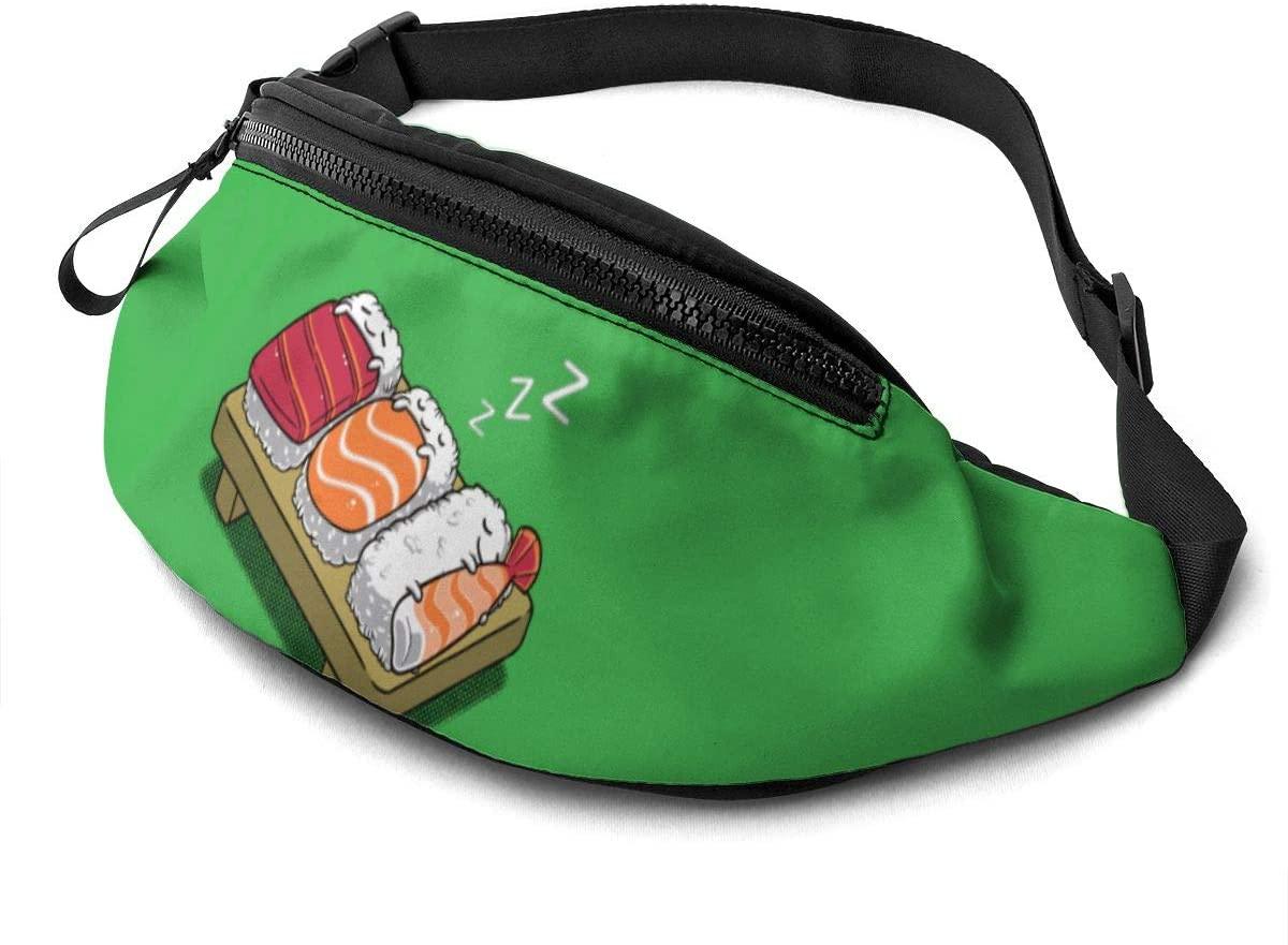 Funny Sleeping Sushi Fanny Pack Fashion Waist Bag