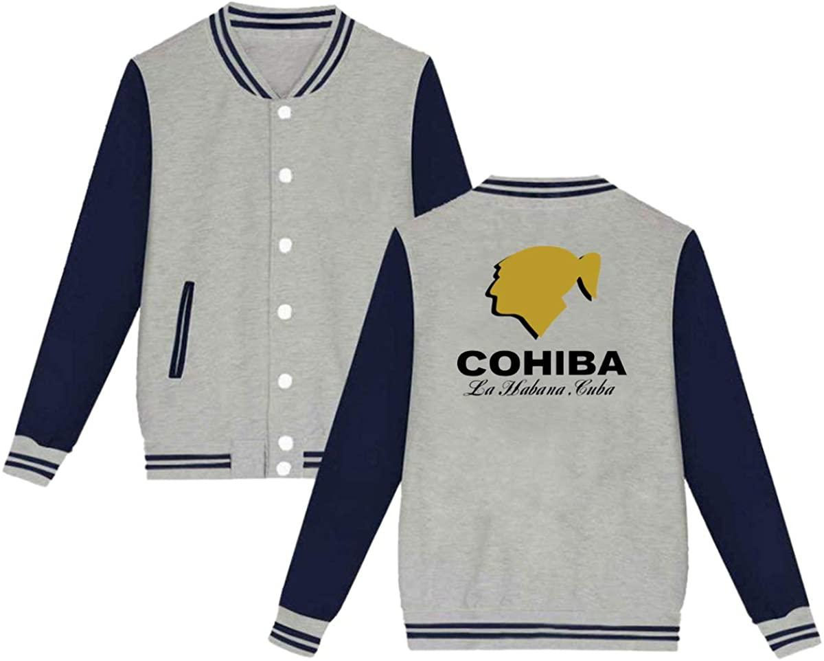 HUOOKFNH-losgusy Cohiba Cigar Unisex Baseball Jacket Varsity Jacket