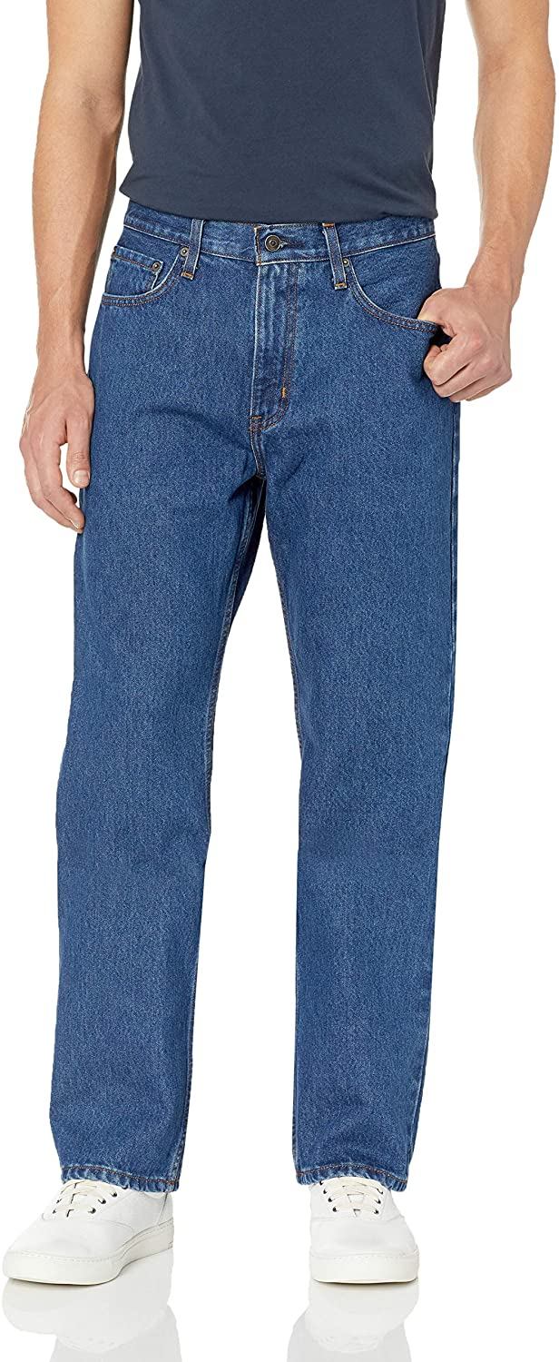 DHgate Essentials Men's Relaxed-Fit 5-Pocket Jean
