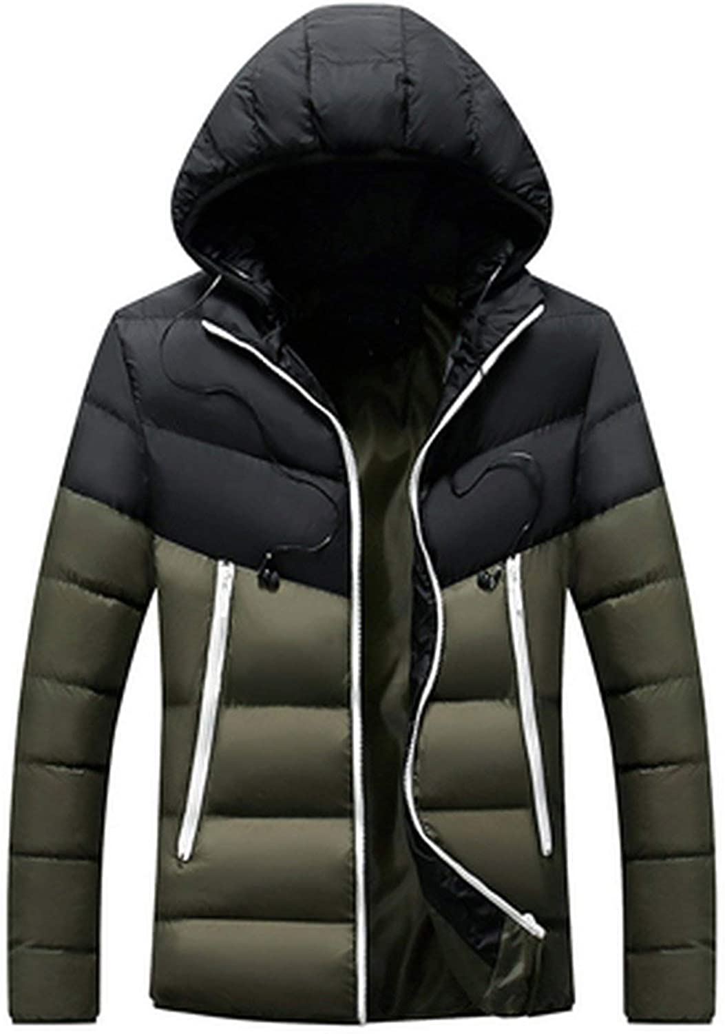 Winter Jacket Mens Cotton Thick Thermal Parkas Hoodies Coats Windbreaker Jackets