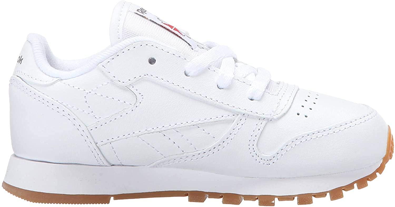 Reebok Boys' Classic Leather Shoes-Little Kids Sneaker, White/Gum, 13.5