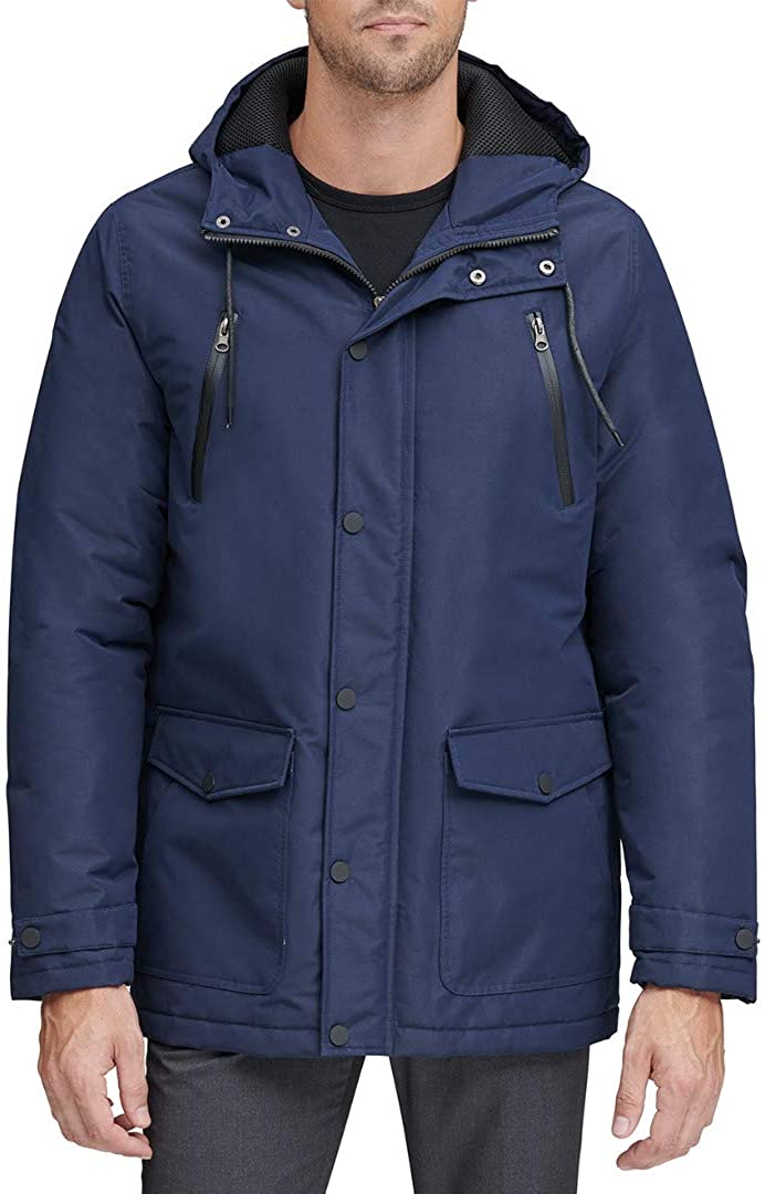 Marc New York by Andrew Marc Mens Milton Hooded Parka Jacket