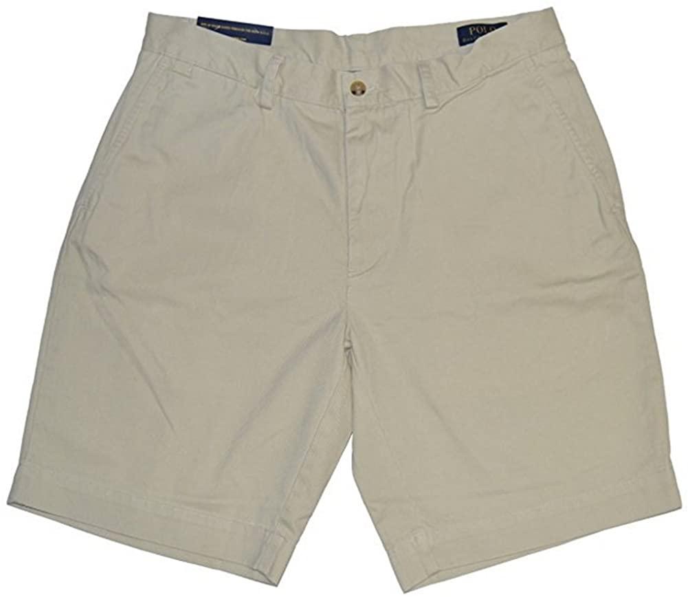 Polo Ralph Lauren Mens Chino Flat Front Shorts (Basic Sand, 30)