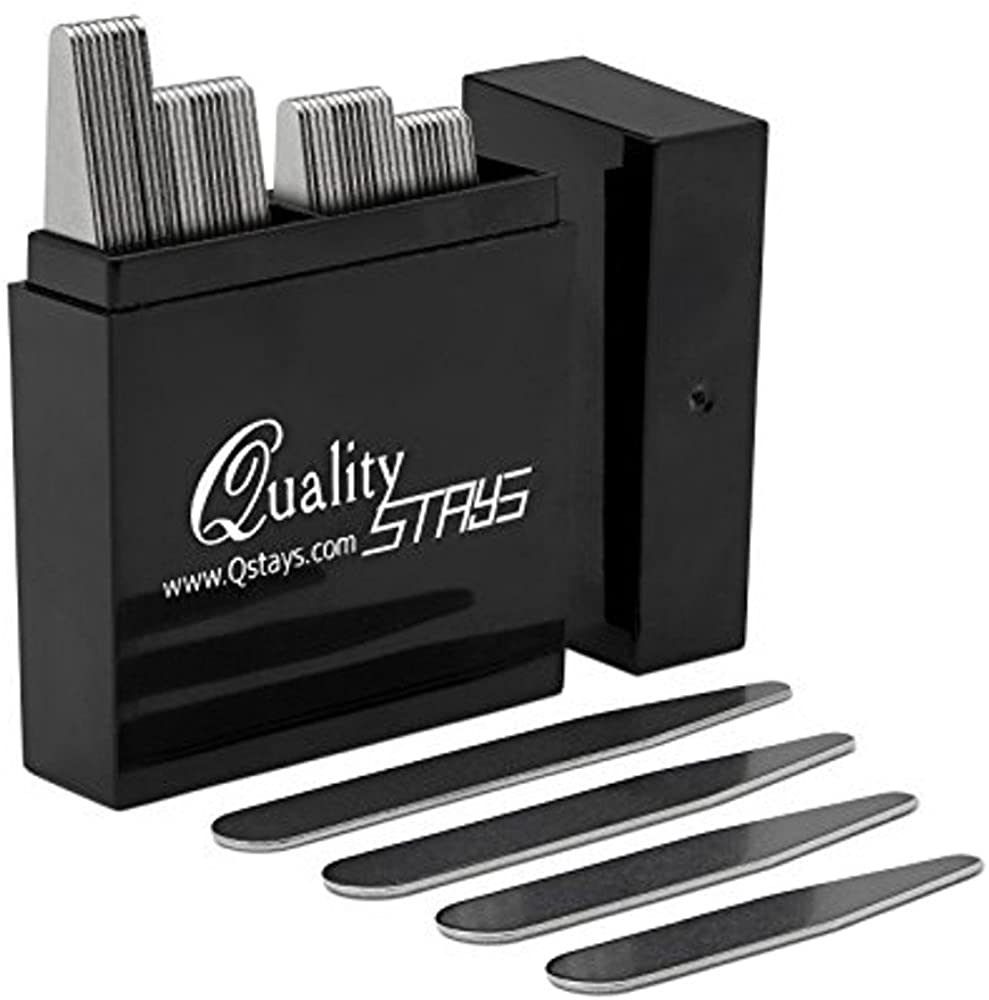 44 Metal Collar Stays - 4 sizes in a Box