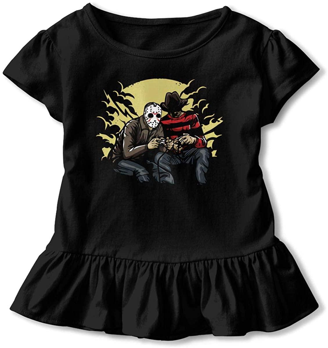 1763 Funny Freddy Vs Jason - Killer Gaming! Children's Short Sleeve T Black