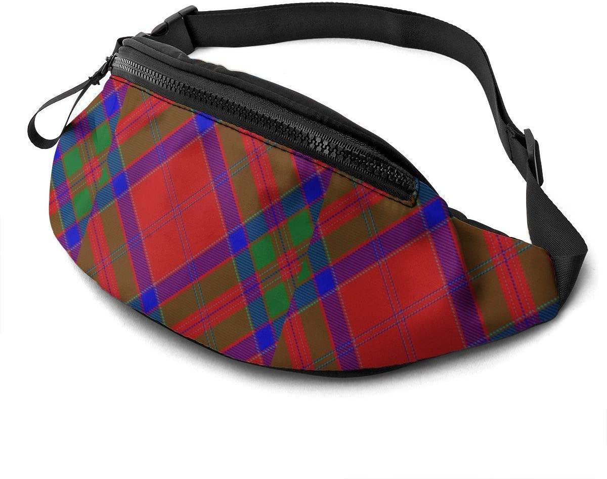 Scots Style Clan Macgillivray Tartan Plaid Fanny Pack Fashion Waist Bag