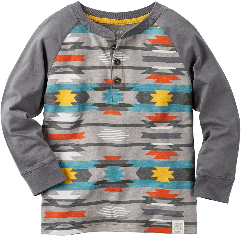 Carter's Boys' Knit Polo Henley 243g597