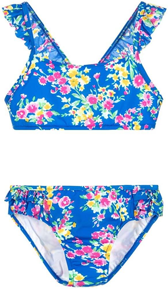 Ralph Lauren Polo Girls Two Piece Floral Bikini Swimsuit