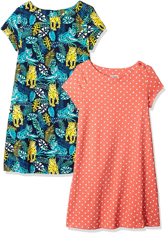 Spotted Zebra Girls' Knit Short-Sleeve T-Shirt Dresses