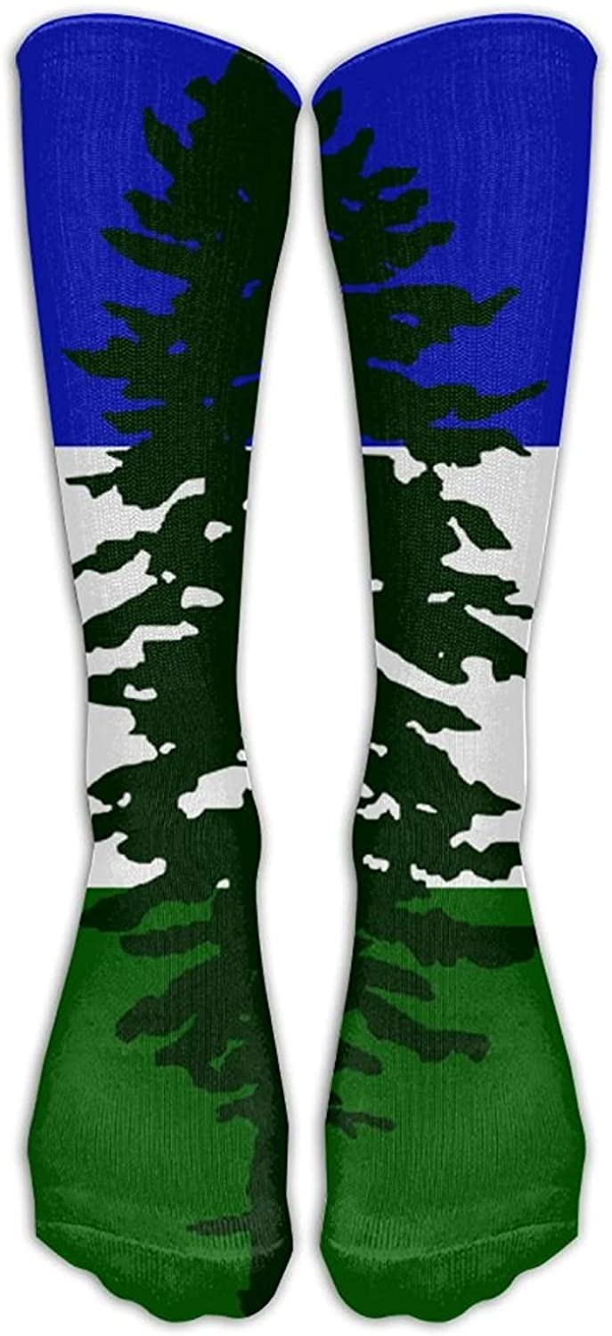 Cascadia Doug Flag Dress Socks Funny Novelty Crazy Casual Cotton Crew Socks for Men and Women