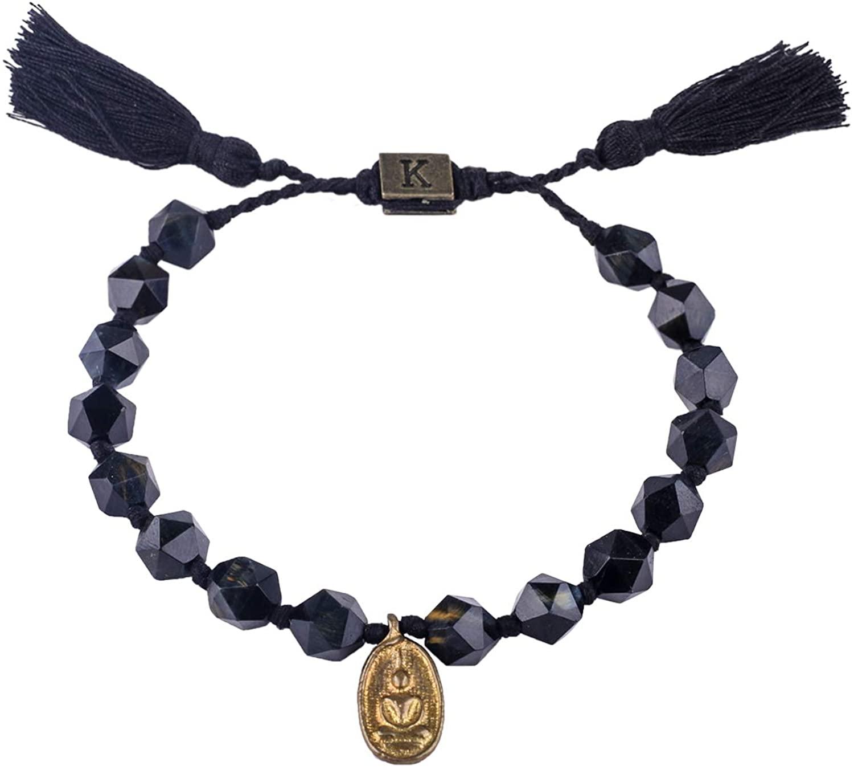 KELITCH Buddha Pendant Friendship Bracelets Woven Beaded Strand Bracelets with Colorful Tassel