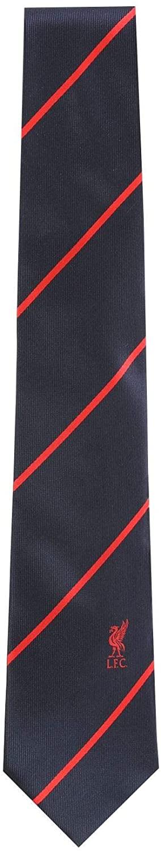 Liverpool FC Navy Stripe Liverbird Tie LFC Official