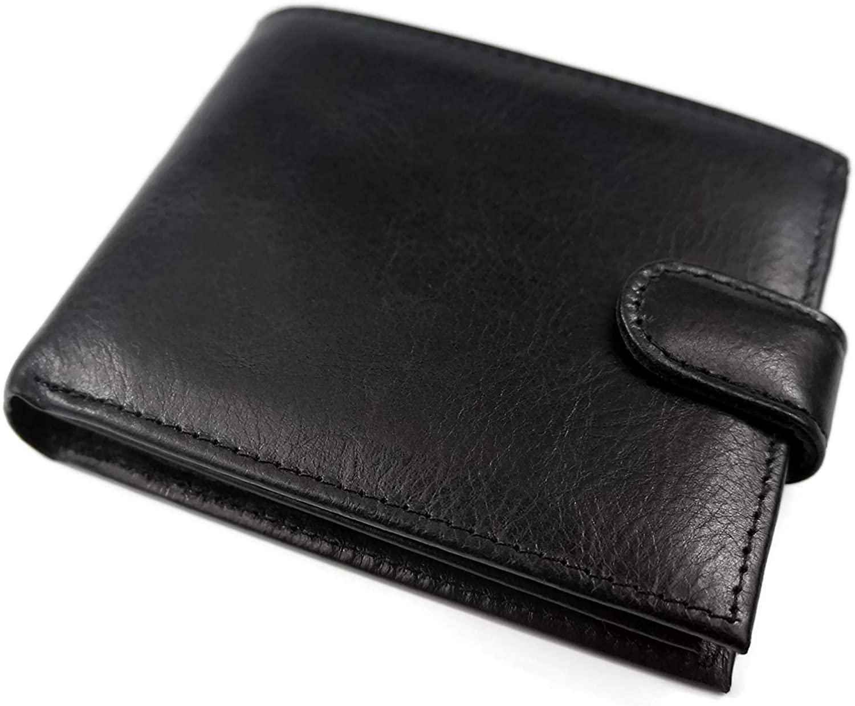 Full Grain Leather Black Mens bi-fold Wallet Excellent quality Leather Goods Handmade in Latvia Gift for Men from Tailor Riga
