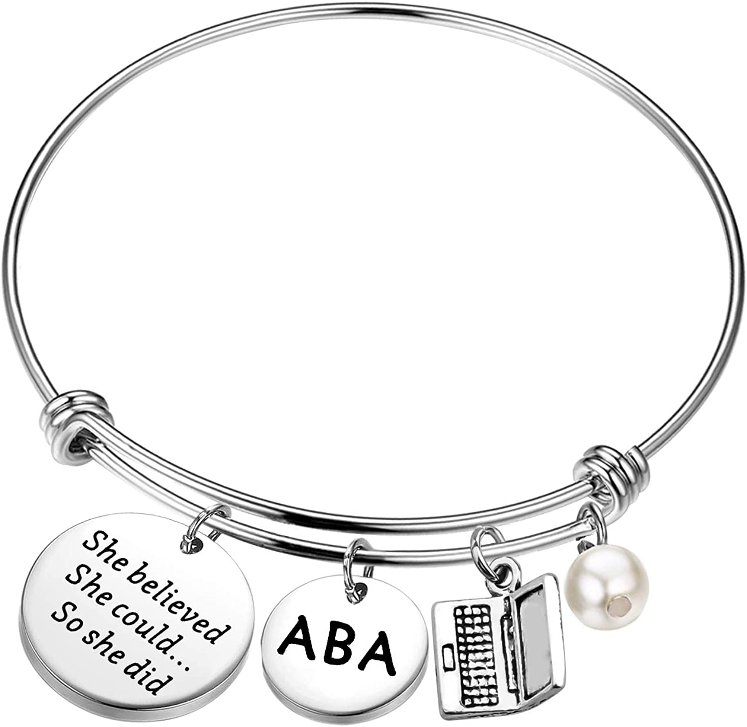 BLEOUK ABA Therapist Gift Behavior Therapist Gift She Believed She Could So She Did ABA Therapist Graduation Gift Therapy Thank You Gift