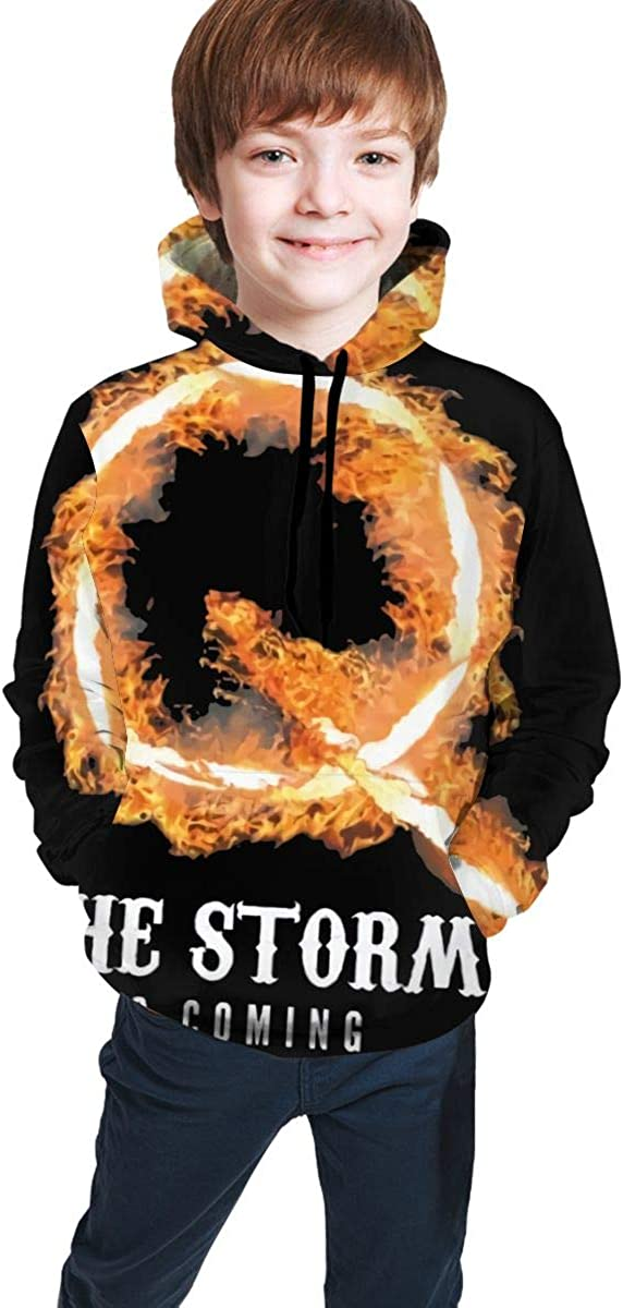 Q Anon Wwg1wga Fashion Good Looking Teen 3D Hooded Sweate Jacket Boy and Girl