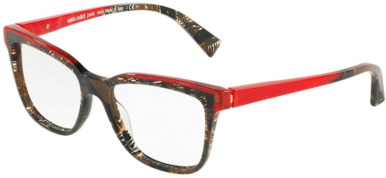 Eyeglasses Alain Mikli A 3077 006 Rouge Mikli/Palmier Chocolat