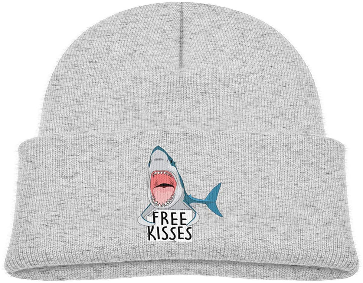 Free Kisses Kids Beanies Hat Winter Hat Knitted Skull Cap