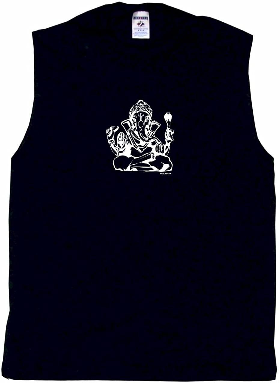 99 Volts India Elephant Ganesha Religious Logo Men's Tee Shirt