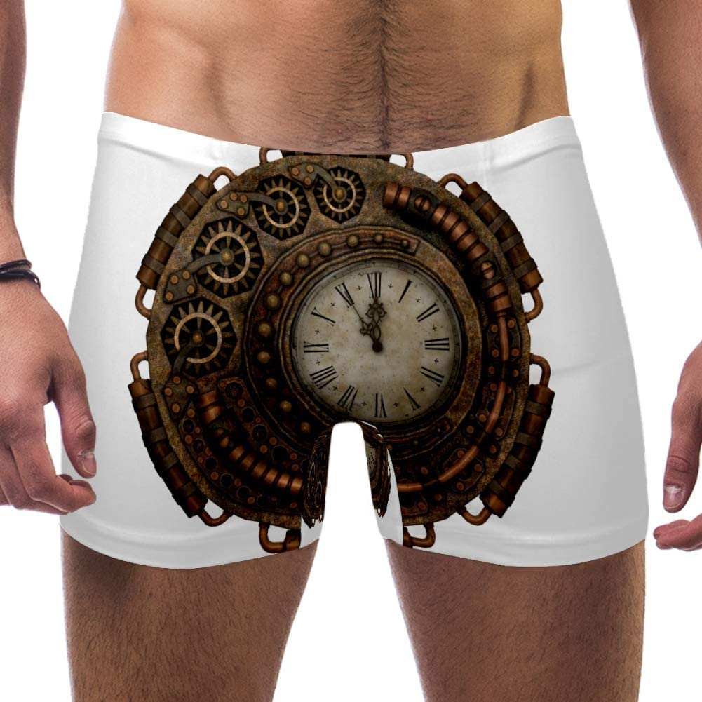 Men's Clock Time Time of Fantasy Swimsuits Swim Trunks Shorts Athletic Swimwear Boxer Briefs Boardshorts