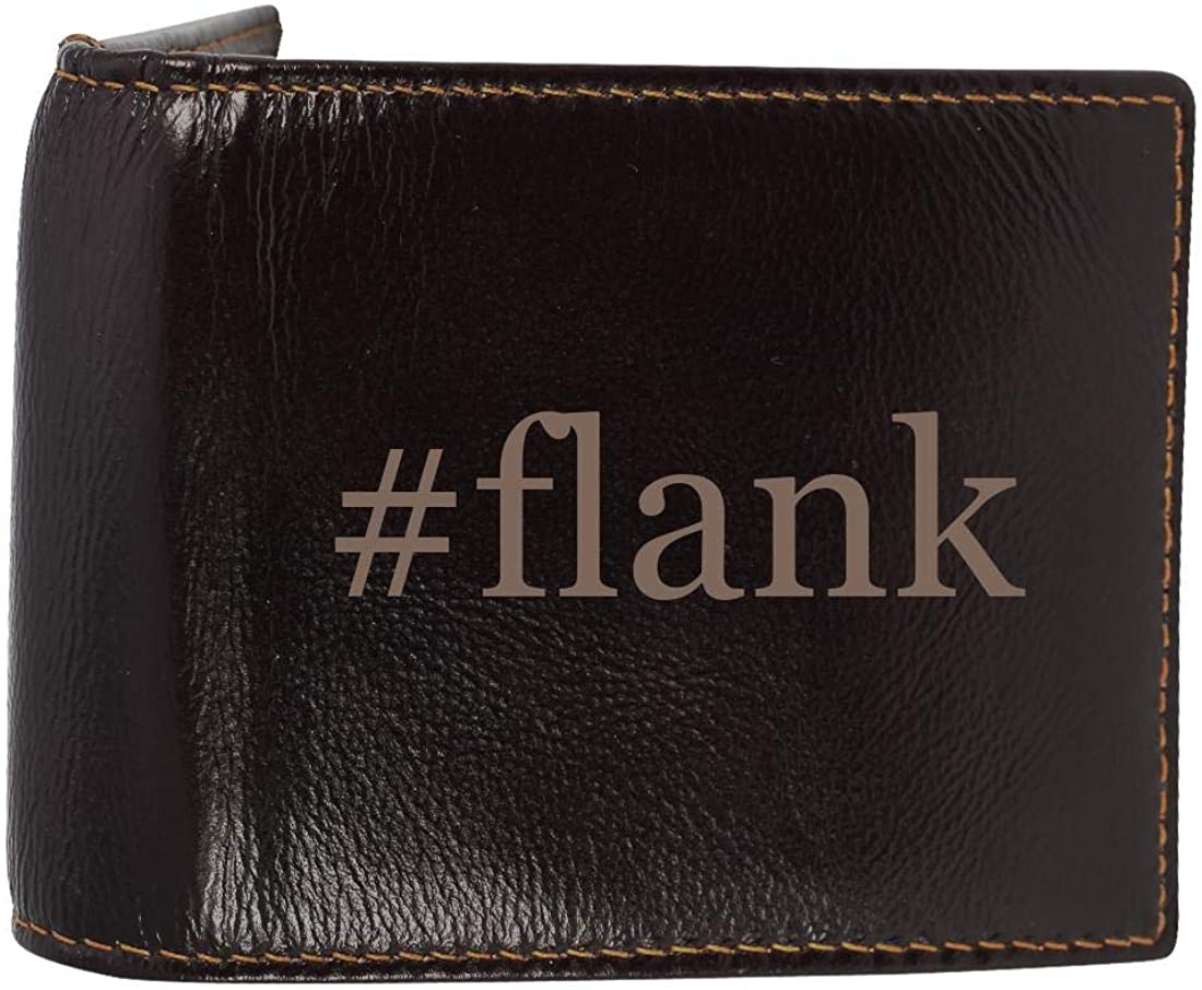 #flank - Genuine Engraved Hashtag Soft Cowhide Bifold Leather Wallet