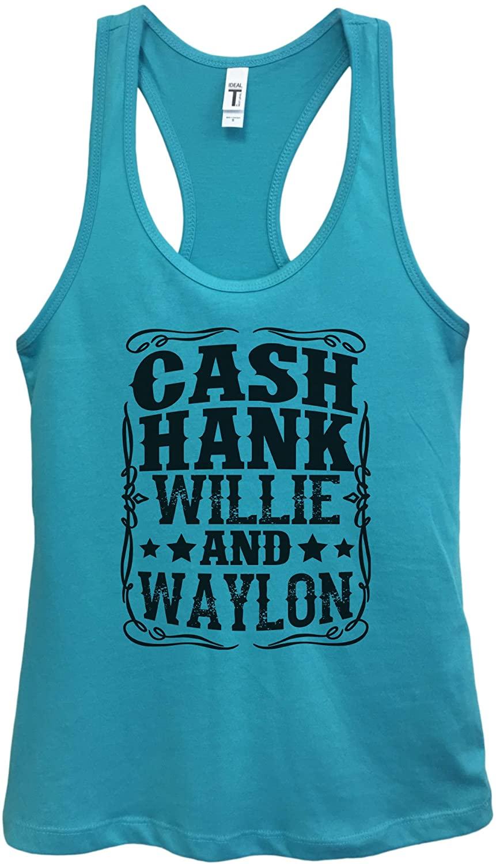 Womens Basic Tank Top Cash Hank Willie and Waylon Country Girl Tank Top
