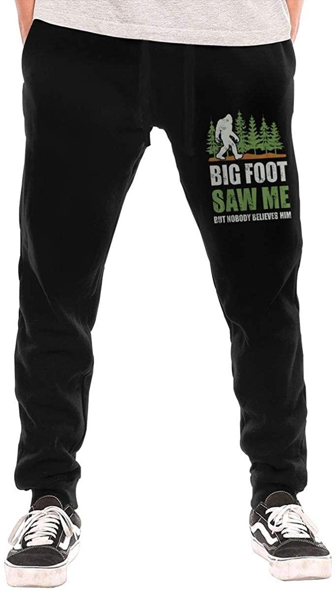 Bigfoot Saw Me But Nobody Believes Him Breathable Fashion Sports Leisure Men's Long Pants