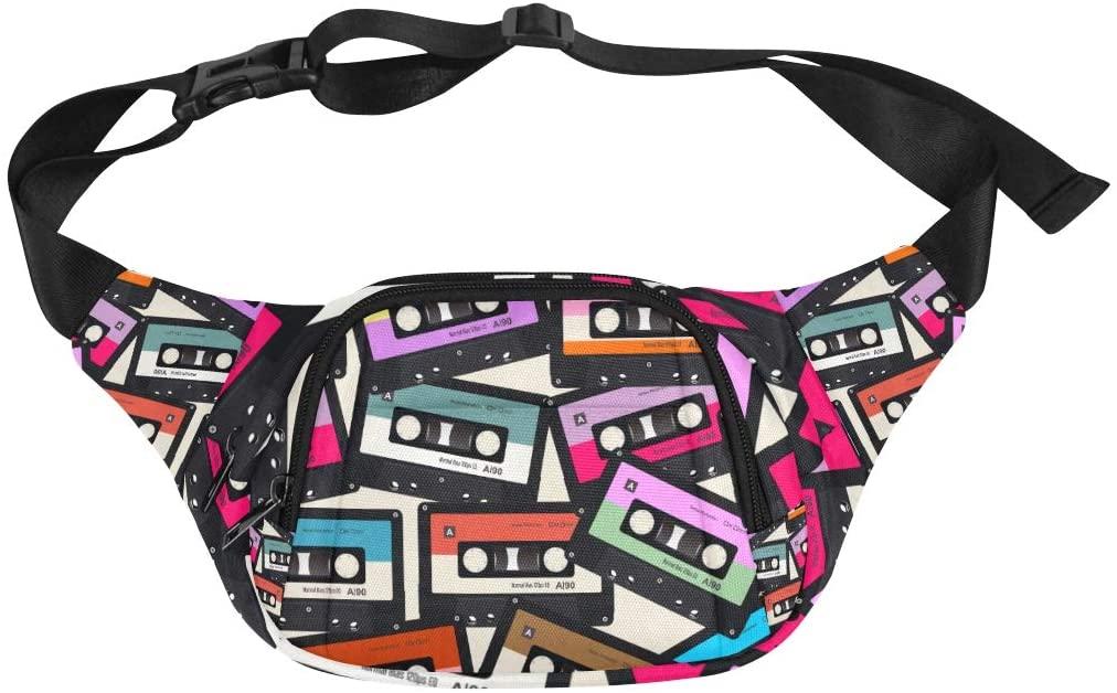 Mens Fashion Travel Bag Handsome Cool Fashion Rock Pop Music Adjustable Belt Waterproof Nylon Fenny Pack Rn Waist Bag Exercise Fanny Pack Woman S Bag