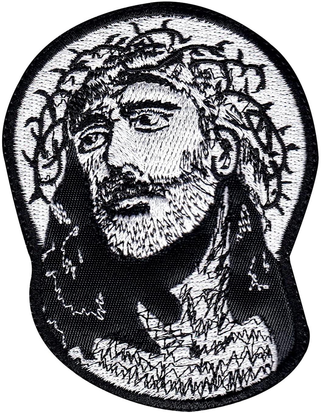Jesus Looks Up Religious Patch